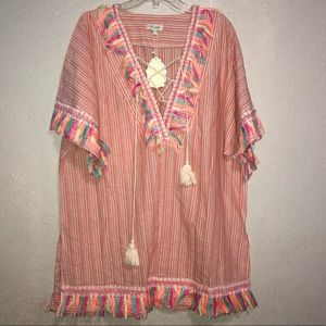 Velzera fringe tassel cover up size 1X